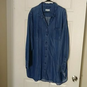 Denim tunic top